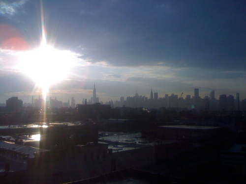 Sunset over Greenpoint, Brooklyn