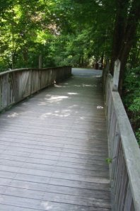 Footbridge to class